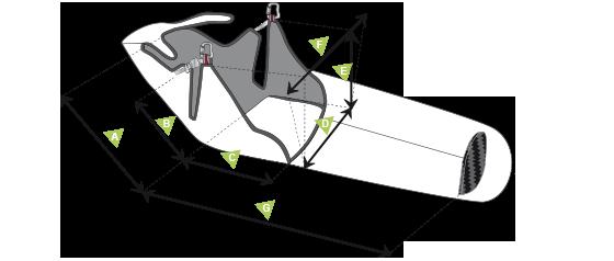 Размеры подвесной системы для параплана SupAir Skypper 2