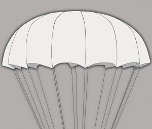 СупЭир Шайн легкий круглый парашют