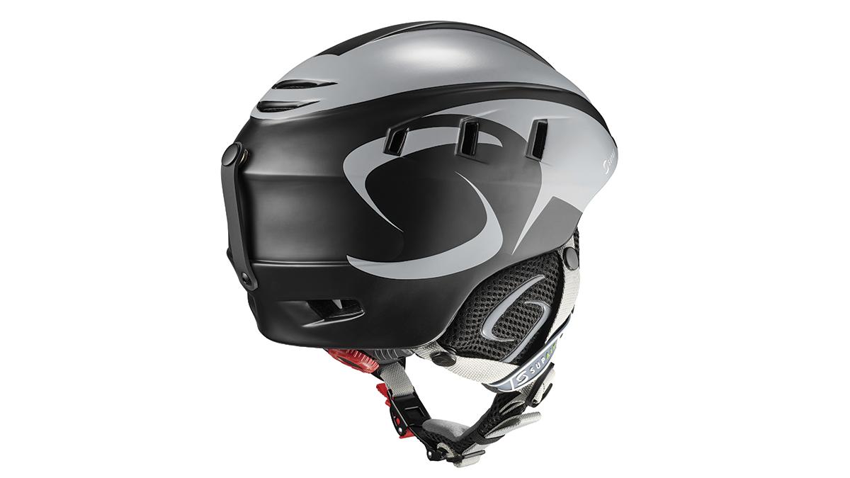 SupAir Pilot - Шлем SupAir пилот цвет Black.Вид сзади