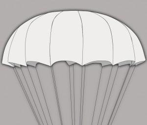Купить СупЭир Шайн легкий круглый парашют