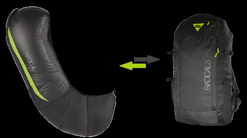 Рюкзак трансформирующийся в протектор AirBag
