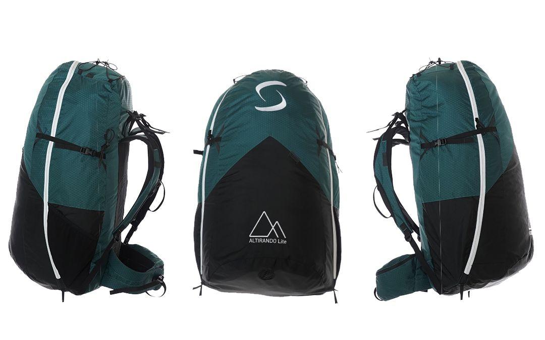 SupAir Altirando Lite - Подвесная система Supair Altirando Lite вид упакованного рюкзака